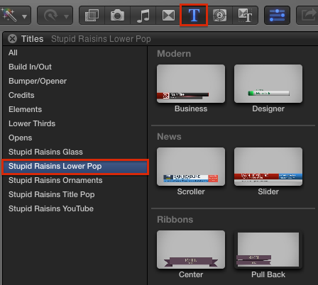 Lower Pop 20 Professional Fcpx Lower Third Titles