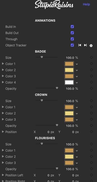 badge pop parameters